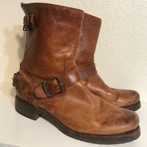 Cognac Frye Veronica boot 7.5